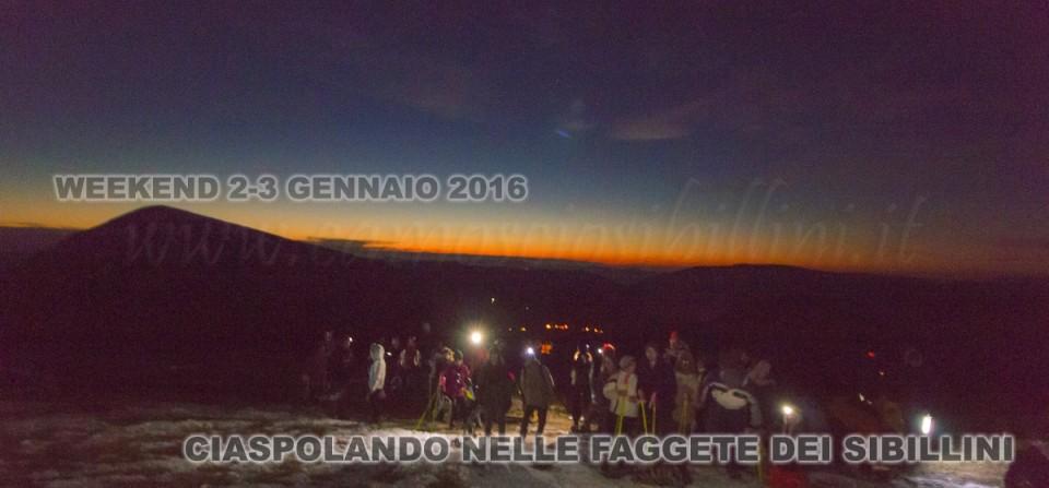 "WEEKEND 2-3 GENNAIO ""CIASPOLANDO NELLE FAGGETE DEI SIBILLINI"""