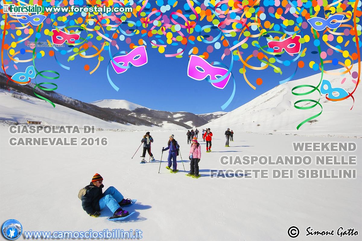 CIASPOLATA DI CARNEVALE 2016, weekend bianco