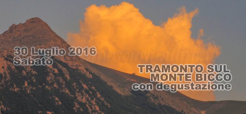 30 Luglio Tramonto sul Monte Bicco