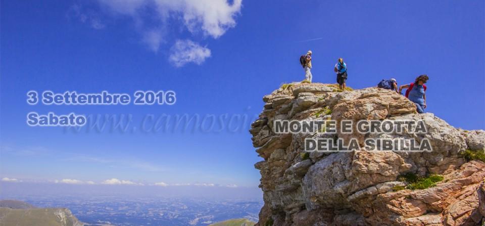 3 Settembre – Escursione al Monte Sibilla – 2016