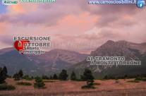 8 Ottobre – Tramonto sul Monte Torrone – Sabato