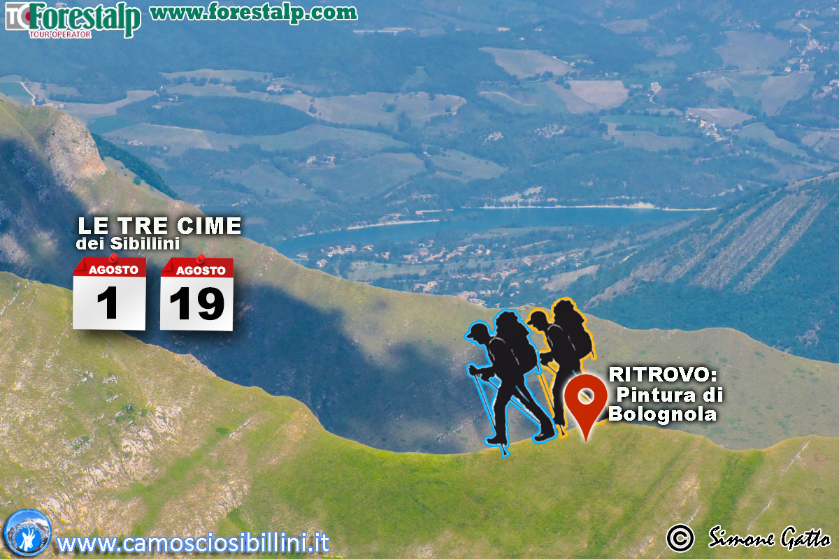 Escursione le Tre Cime dei Sibillini – 1° Agosto 2018
