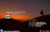 2 Agosto 2018 – Tramonto sul Monte Careschio di Ussita