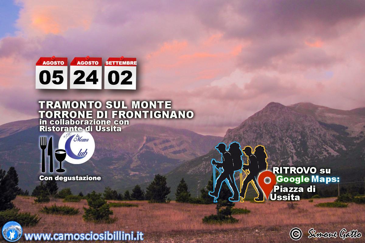 Sabato 24 Agosto – Escursione al Tramonto a Frontignano con degustazione