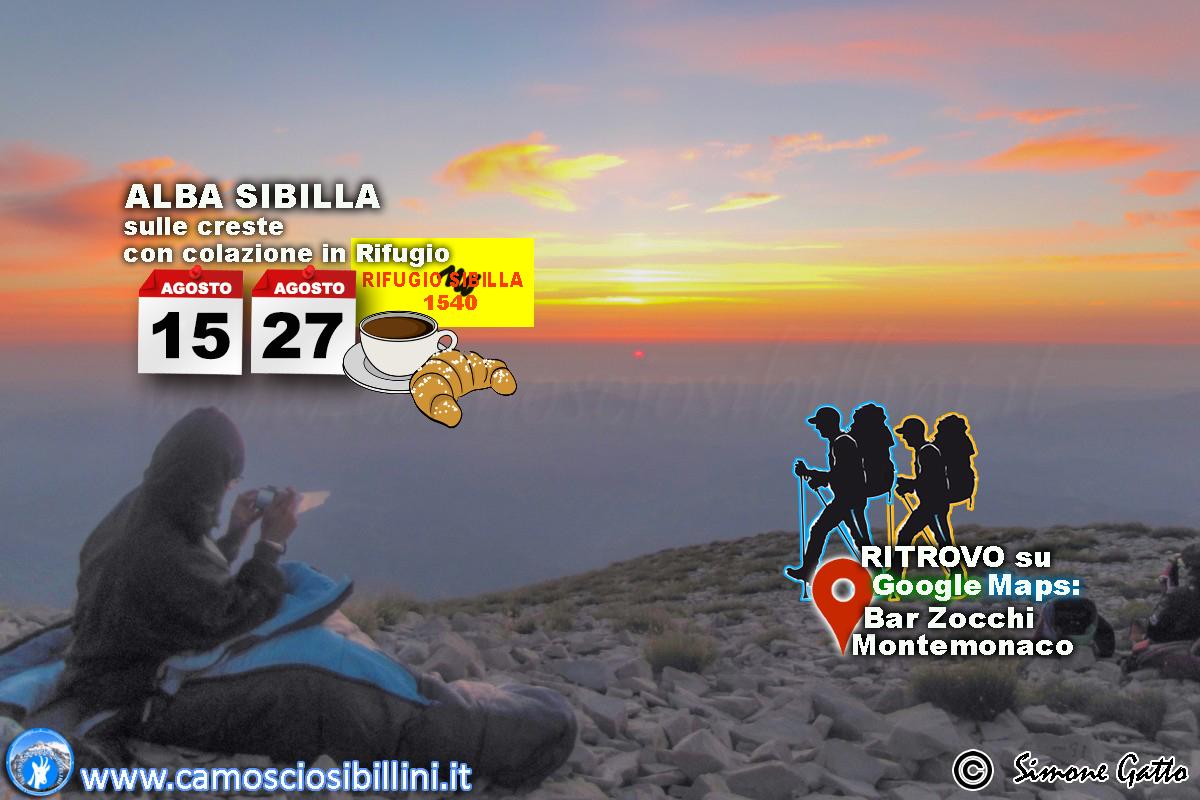 27 Agosto – Escursione all'alba sulle creste del Sibilla