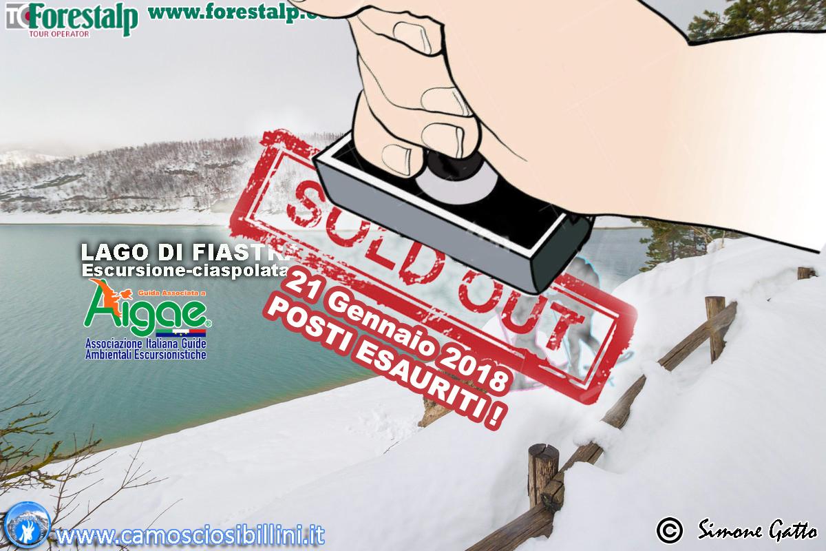 CIASPOLATA Lago di Fiastra 21 Gennaio 2019