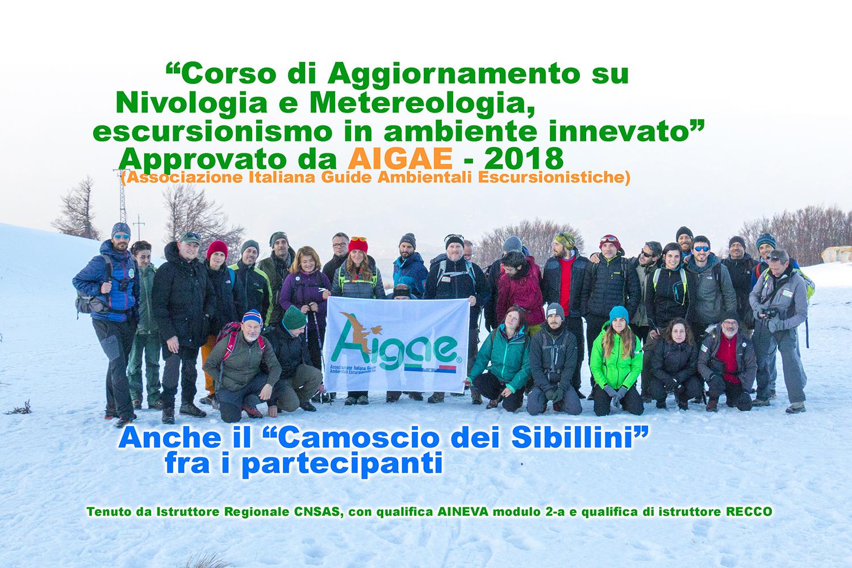 Corso su Nivologia e Metereologia, escursionismo in ambiente innevato.