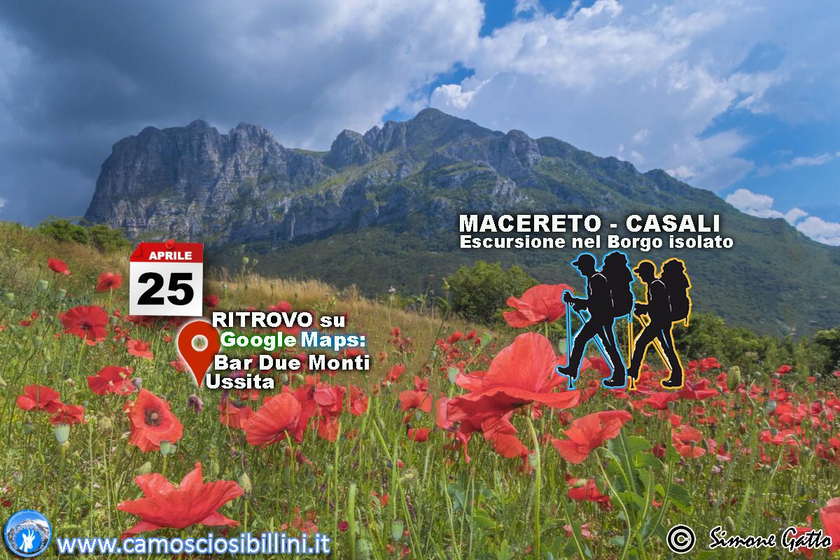 25 Aprile 2018 Escursione Il Ritorno nel Borgo Isolato, Macereto-Casali di Ussita
