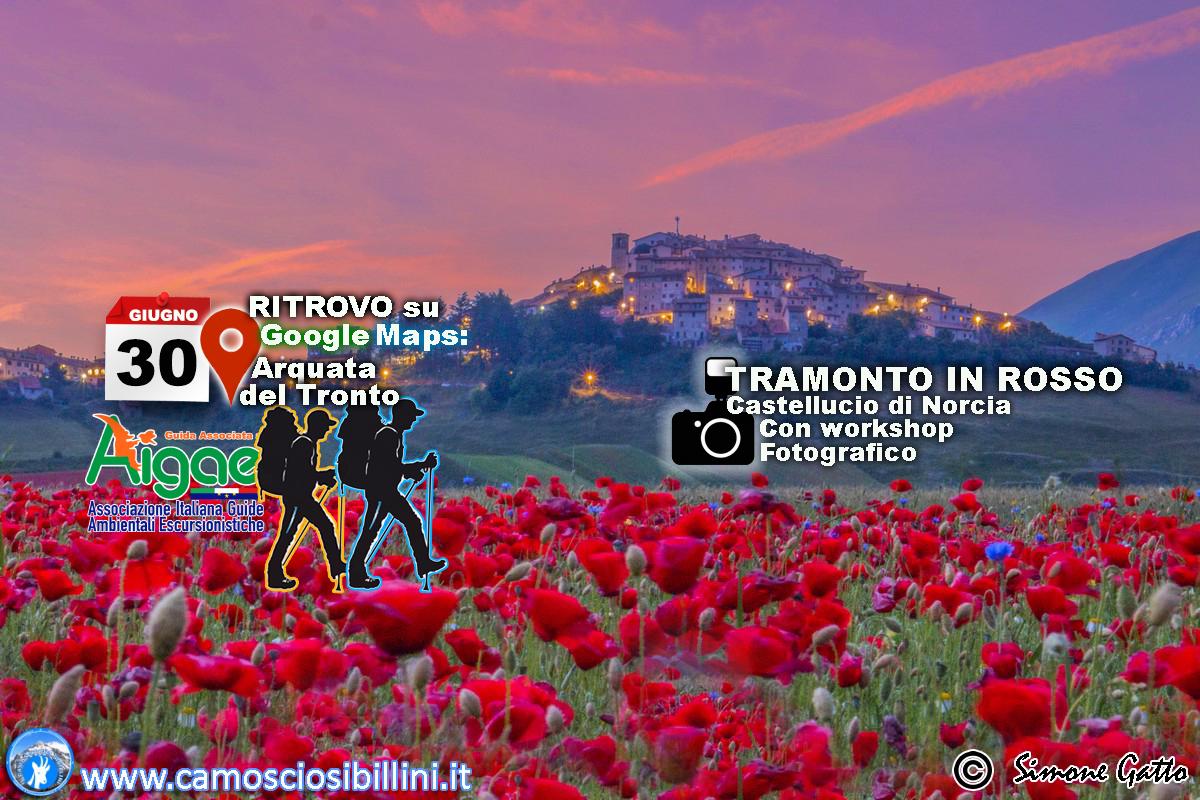 Tramonto in Rosso – escursione 29 Giugno