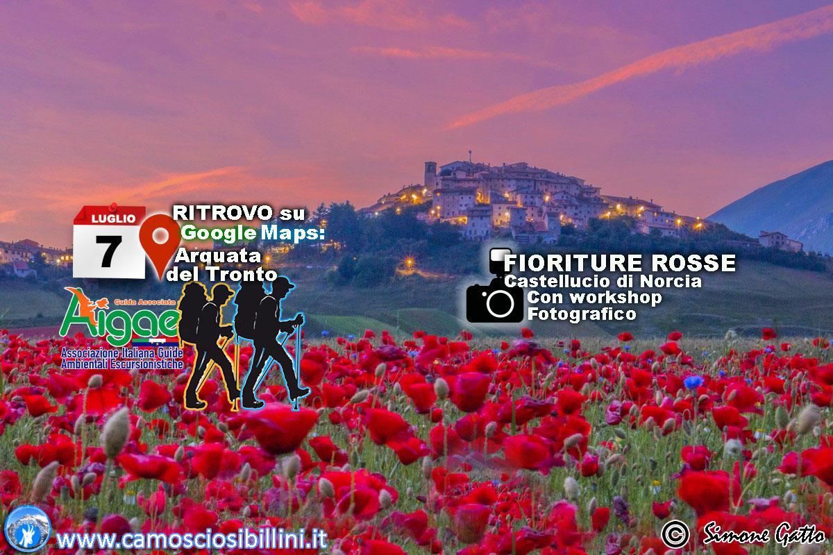 TRAMONTO IN ROSSO-BLU A Castelluccio di Norcia – 7 Luglio 2018