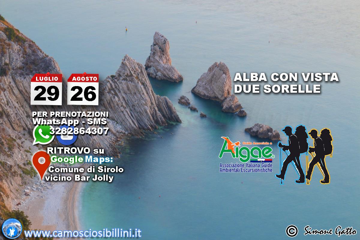 Alba Con vista sulle Due Sorelle – 26 Agosto
