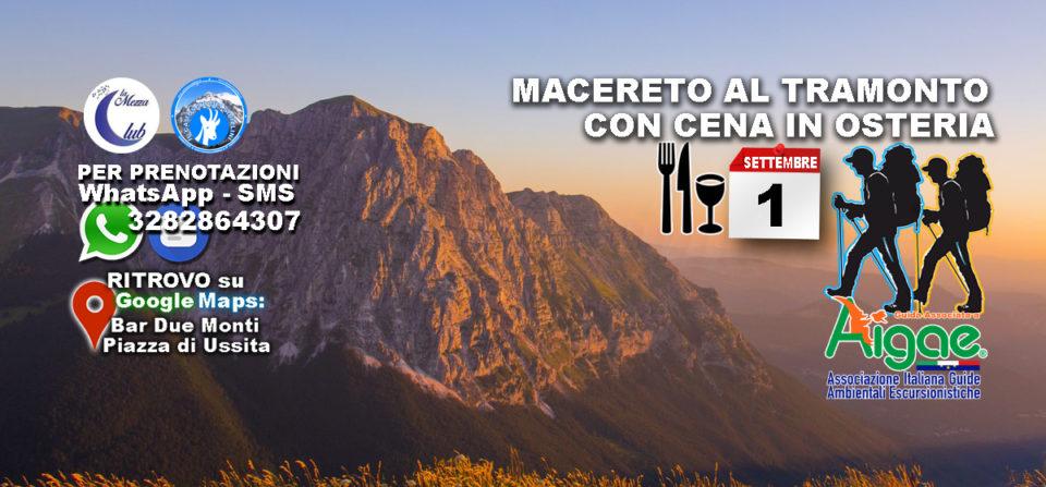 1 Settembre 2018 – Tramonto a Macereto con Cena in Osteria
