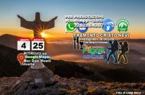 Sabato 25 Agosto 2018 – Escursione al Tramonto al Cristo delle Nevi con Degustazione e 25 Agosto 2018