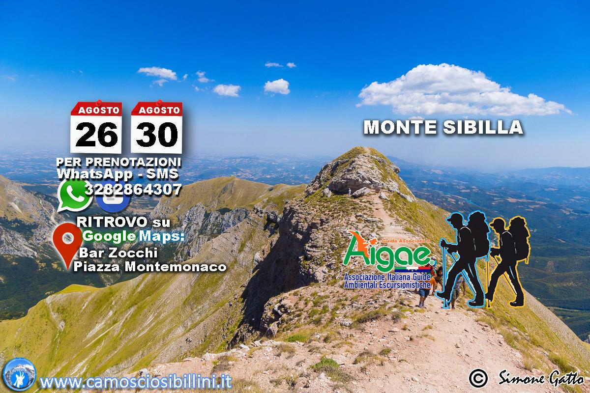 26 e 30 Agosto 2018 Monte Sibilla