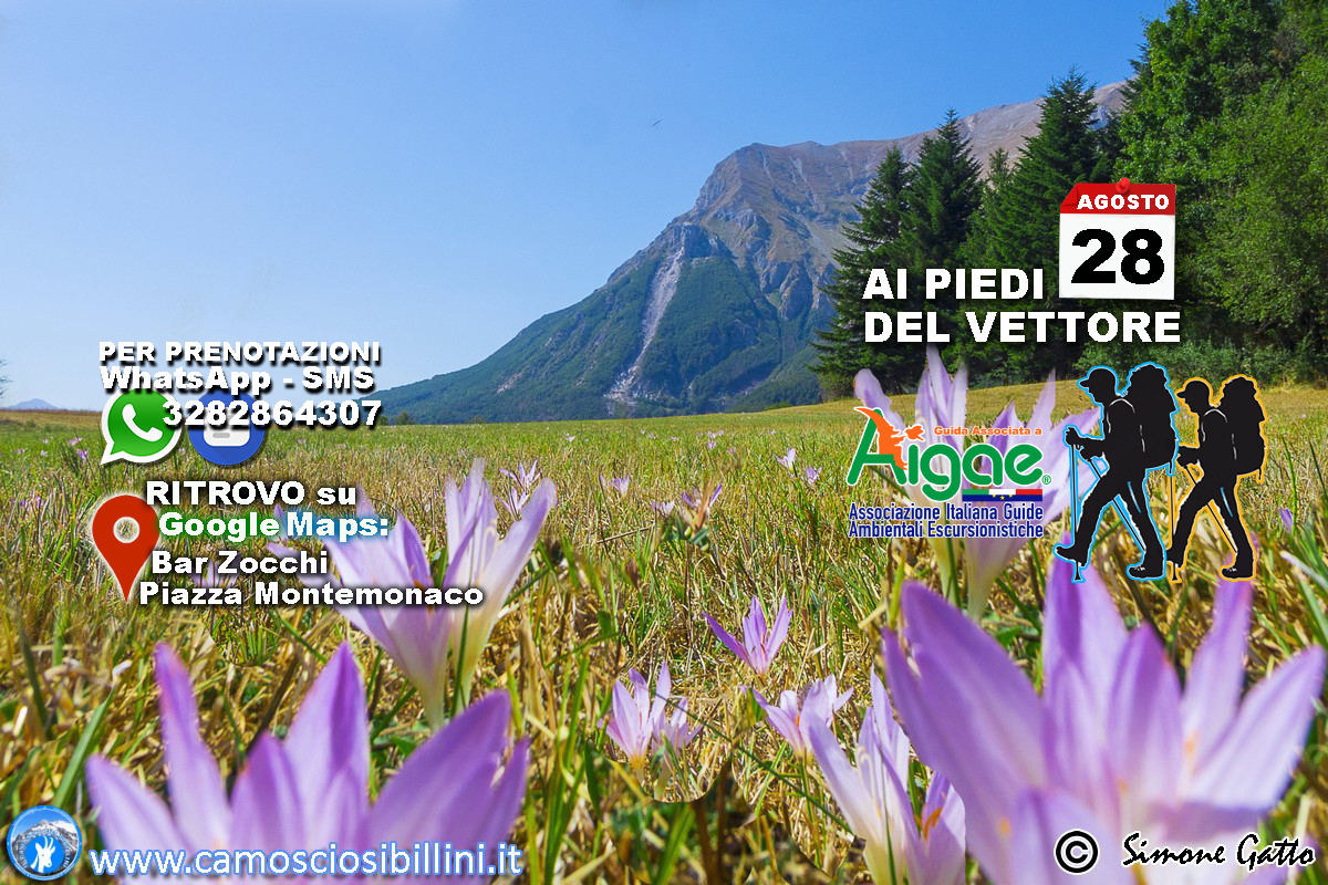 28 Agosto Escursione ai Piedi del Monte Vettore