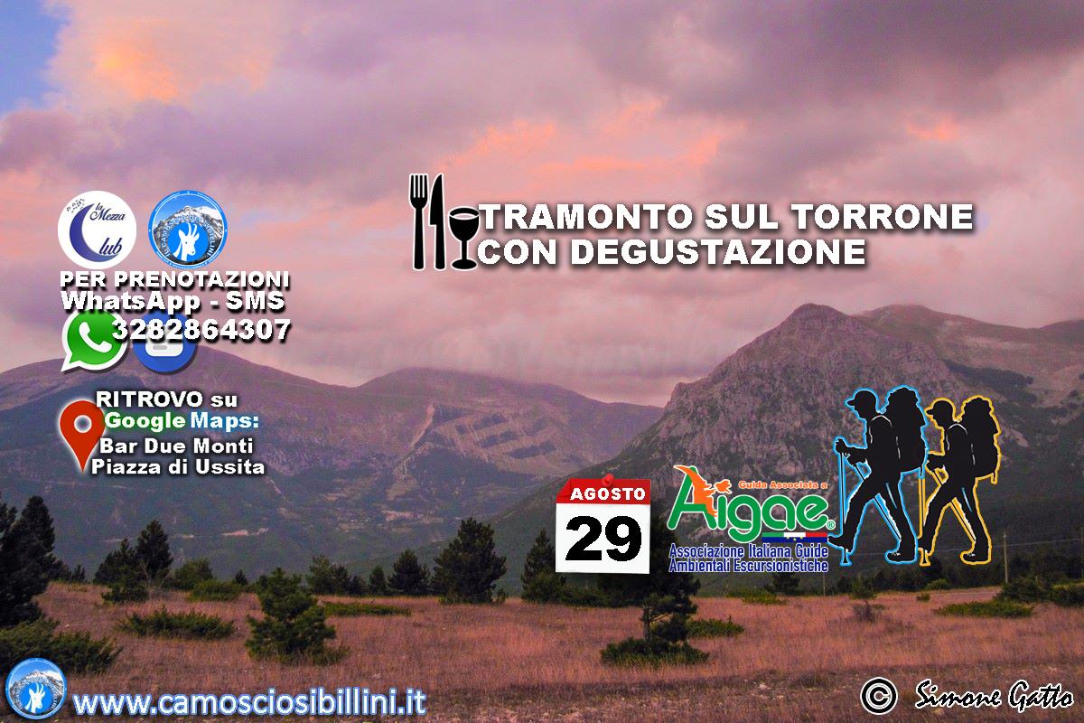 29 Agosto 2018 – Tramonto sul Monte Torrone con Degustazione –