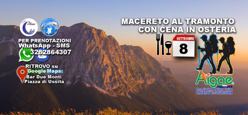 8 Settembre 2018 – Tramonto a Macereto con Cena in Osteria