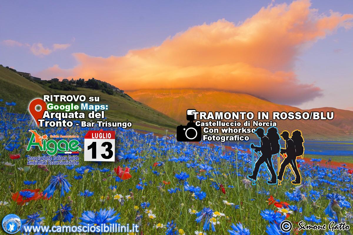 TRAMONTO IN ROSSO-BLU A Castelluccio di Norcia – 13 Luglio 2020