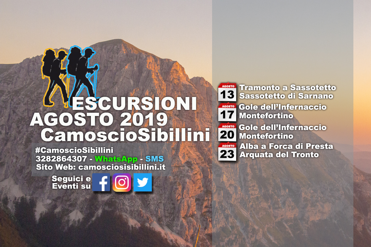 Calendario Eventi Agosto 2019 – PhotoWalk
