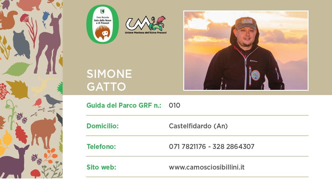 Simone Gatto – Guida Ufficiale n°10 del Parco Naturale Regionale della Gola della Rossa e Frasassi
