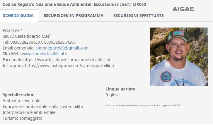 Guida Aigae Simone Gatto MR060 – Registro Nazionale Guide